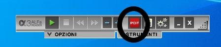 Barra del visualizzatore pdf Alfa Reader 3